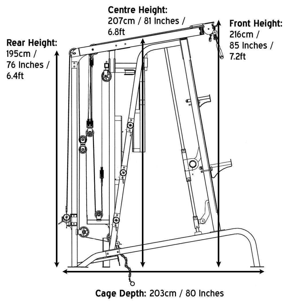 Marcy MD-9010G - Máquina de gimnasia (máquina Smith, banco de pesas extraíble, carga de 272 Kg, rodamiento lineal): Amazon.es: Deportes y aire libre