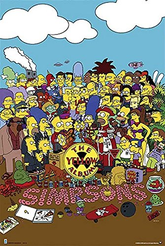 Grupo Erik Editores Simpsons The Yellow Album/Hfe - Poster, 61 x 91.5 cmhttps://amzn.to/2QFKFIb