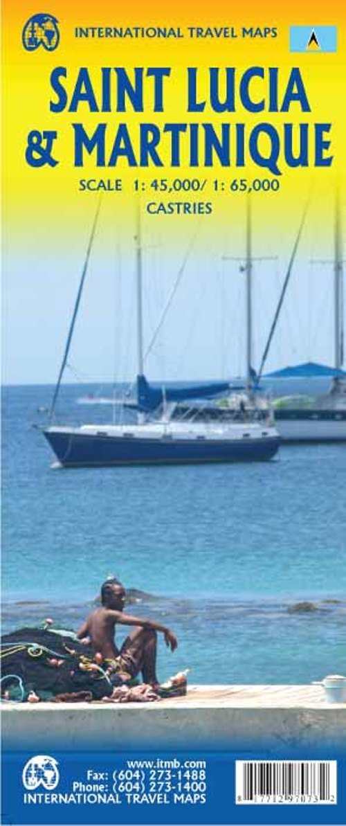 1. Saint Lucia & Martinique Travel Reference Map 1:45k /1:65k Map – July 1, 2018 ITMB Publishing LTD 1771297077 Travel / Americas