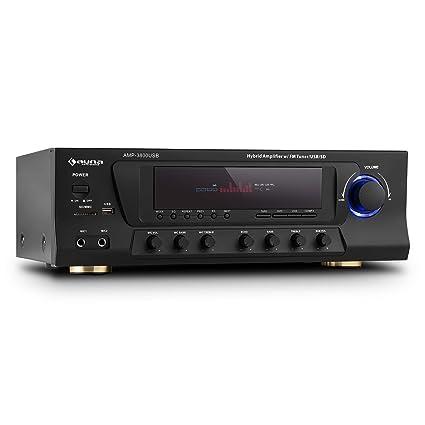 auna AMP-3800 • Amplificador Surround 5.1 • Estéreo Hi-Fi • Amplificador Home
