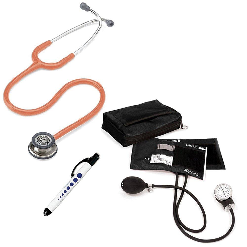 3M Littmann Classic Iii™ Prestige Medical Adult Sphygmomanometer With Case And Quick Lites Penlight Kit Orange