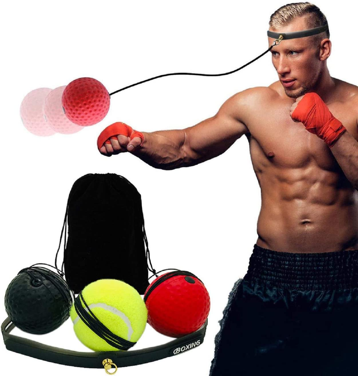 Fight Ball With Head Band For Reflex Speed Training Boxing Punch Exercise