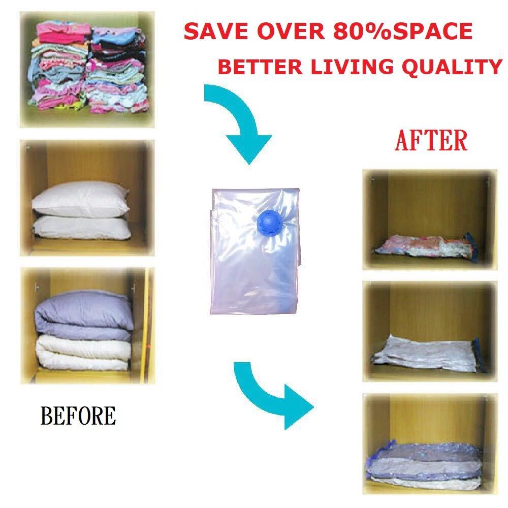 4 x Jumbo MAGICEHOUSE Premium Vacuum Storage Bags 4 Pack Space Saver Bags Free Hand Pump