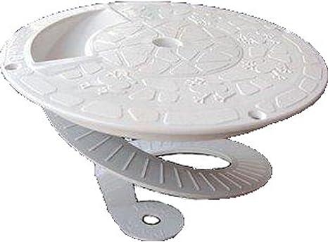 Critter Skimmer 9-Inch Round Pool Skimmer Cover, White