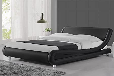 Madrid Black Bed Frame- 5ft: Amazon.co.uk: Kitchen & Home