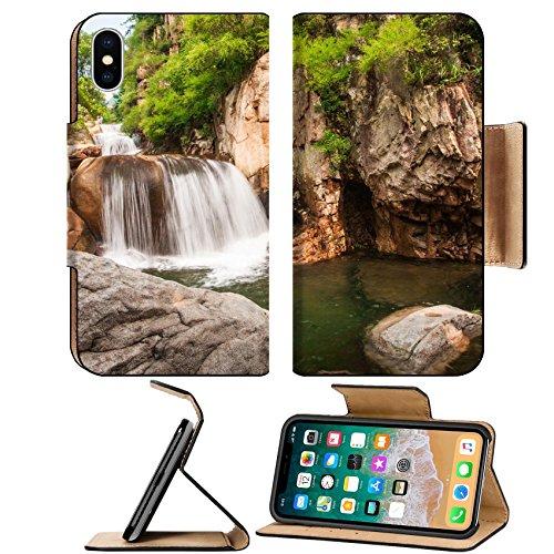 Luxlady Premium Apple iPhone X Flip Pu Leather Wallet Case IMAGE ID 31241414 Qingdao laoshan chaoyin sault landscape in China