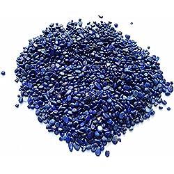 NewDreamWorld 100g Small Gravels Lapis Lazuli Pebbles for Marimo Aquarium Decoration Accessories, 2-4mm