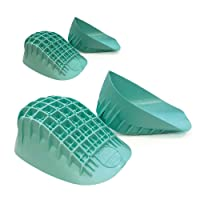 Tuli's Heavy Duty Heel Cups (2-Pairs), Green - Pro Heel Cup Shock Absorption and Cushion Inserts for Plantar Fasciitis, Sever's Disease and Heel Pain Relief