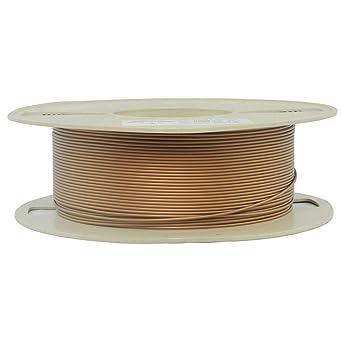 RepRapperもつれ無し銅質PLA3Dフィラメント1.75mm径1kg輝きのあるずっしりした金属の質感
