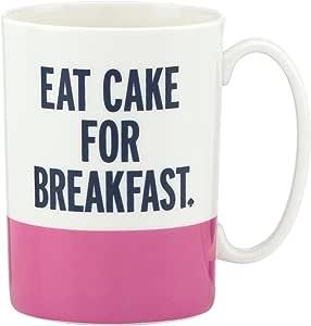 kate spade new york Things We Love Eat Cake for Breakfast Mug