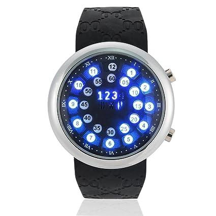 Reloj LED 2 Tipos Relojes Digitales para Hombres a Prueba de Agua 10m con Correa de