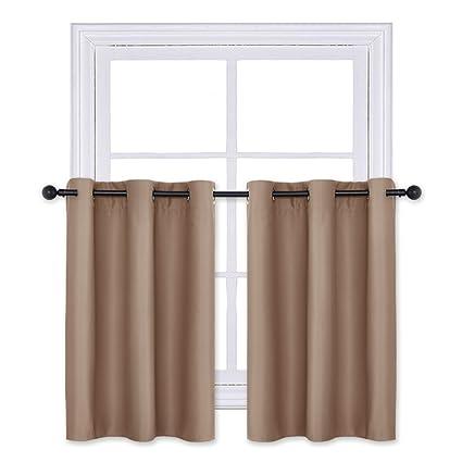 best window treatments for kitchens kitchen sink pony dance 36quot curtain tiers blackout panels grommet top window treatments home decor short amazoncom 36