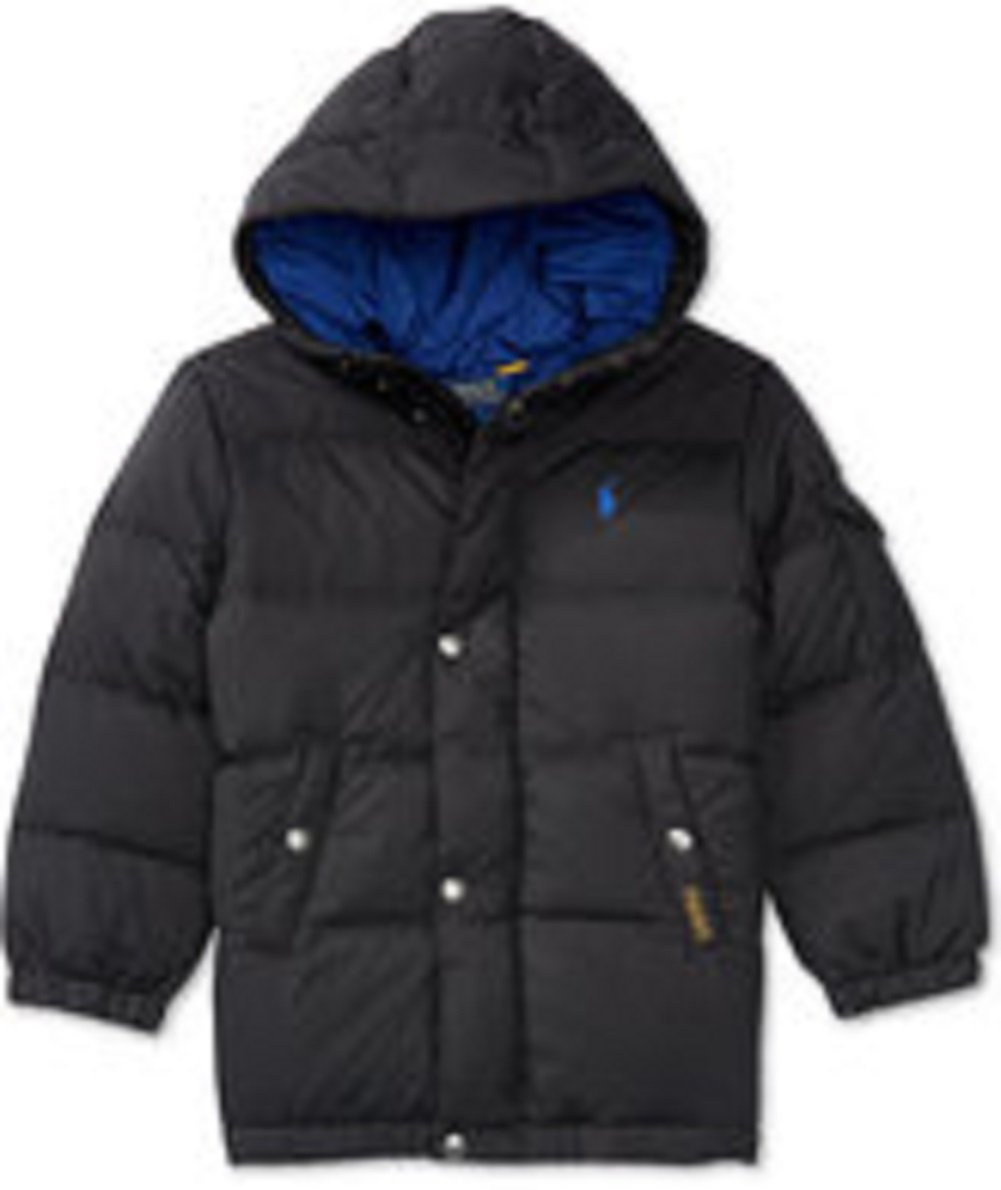 Little Boys Quilted Down Jacket, Toddler 2T black