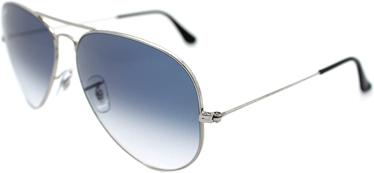 50685c1674 Amazon.com  Ray Ban Aviator 3025 Silver Frame w  Blue Gradient Rb 3025  003 3f 62mm Large  Shoes