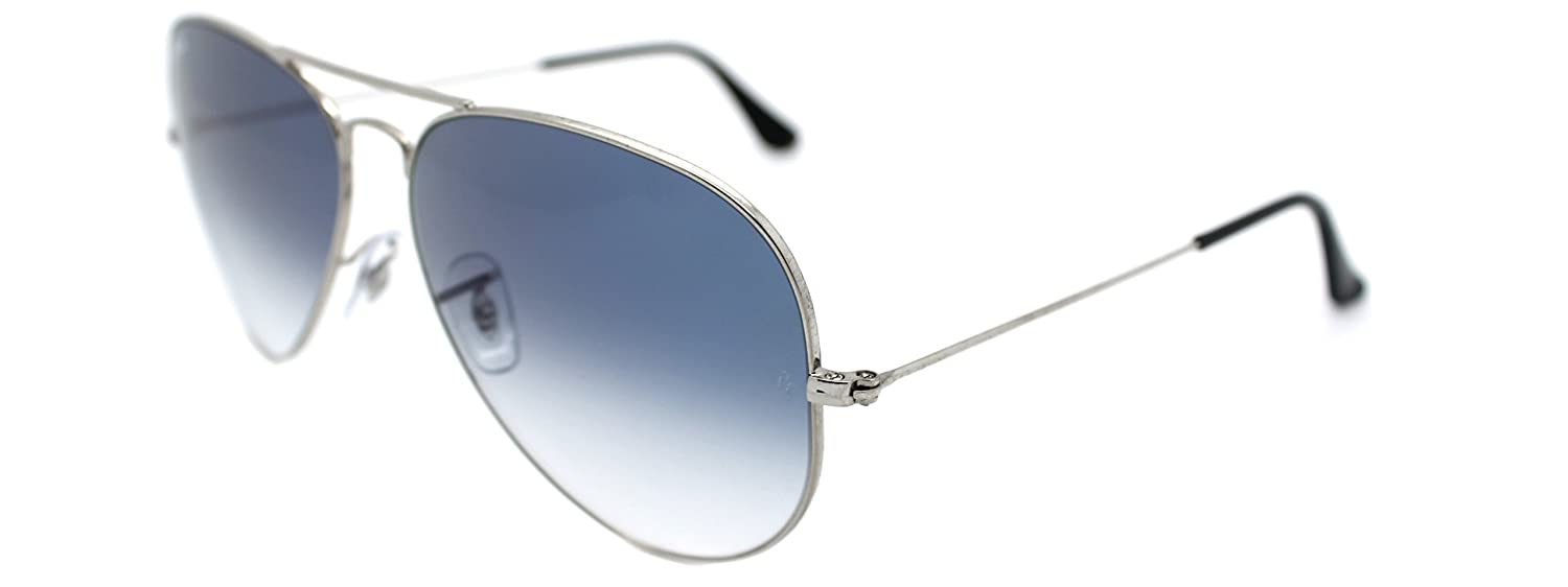 Amazon.com  Ray Ban Aviator 3025 Silver Frame w  Blue Gradient Rb 3025 003 3f  62mm Large  Shoes 667f4f0f69