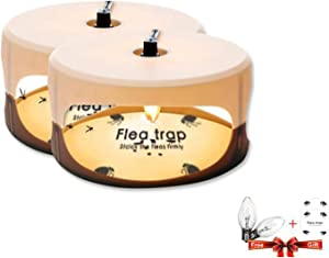 ZZC Flea Trap with 2 Glue Discs Simple Installation Non-Toxic No Insecticides Trap Killer Best Pest Control for Home - 2 Pack