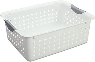 product image for Sterilite Medium Ultra Basket Plastic Storage Bin Organizer - White (Pack of 12)