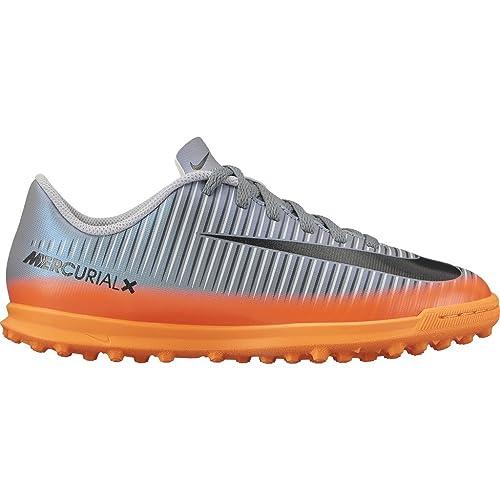 Nike - Performancemercurial Vortex III cr7 TF - Botas de Fãºtbol multitacos - Cool Grey/Metallic Hematite/Wolf Grey: Amazon.es: Zapatos y complementos