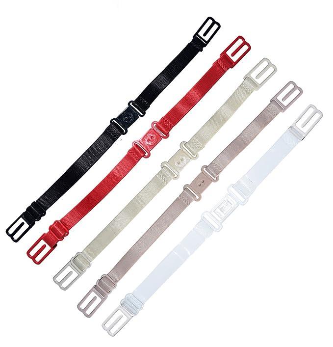 Elástico Antideslizante Correa de Sujetador Soporte ajustable Happy correa clara/Varios Colores Assorted Color: 5pcs bra strap holder Talla única: ...