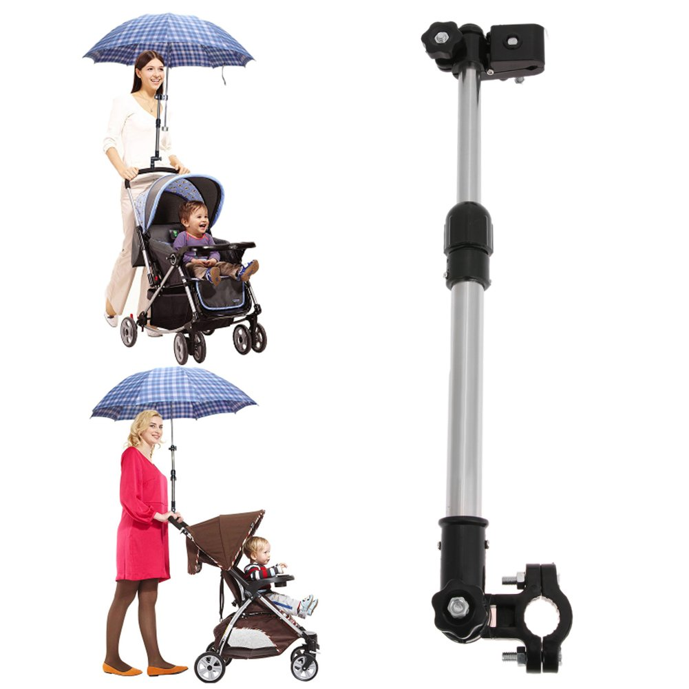 Chinatera Portable Adjustable Plastic Baby Stroller Pram Umbrella Bar Stretch Stand Holder Bracket Connector