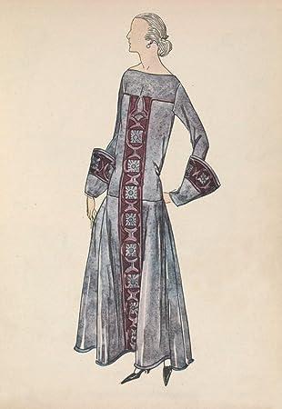 Amazon Soeurs David Gazette Du Bon Ton 1922 Gown 8 Poster Print