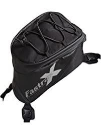 Dowco Fastrax 04739 Xtreme Series: Water Resistant Reflective Motorcycle Tank Bag, Black, 6 Liter Capacity