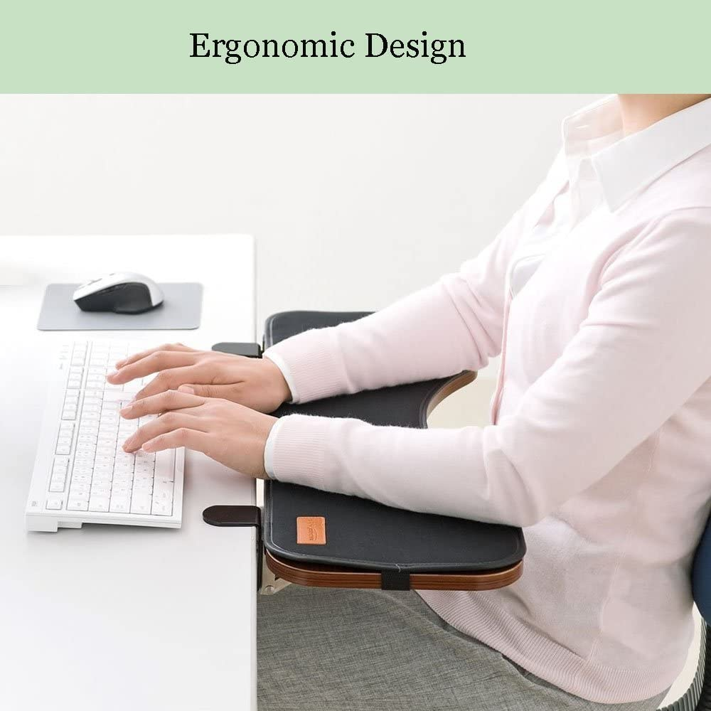 FUZADEL Ergonomics Desk Extender Under Desk Keyboard Tray Clamp On & Mouse Pad, Adjustable Height & Angle Ergonomic Standing Computer Keyboard Stand