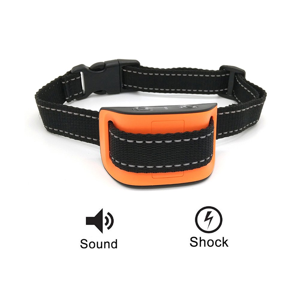 Egreeneco Anti Bark Collar with Vibration, Dog Bark Collar, No Bark Collar, Safe Dog Training Collar, Bark Control Collar for Small Medium Large Size Dogs