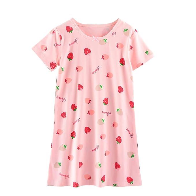 Amazon.com: AOSKERA - Camisón de algodón para niñas de 3 a ...