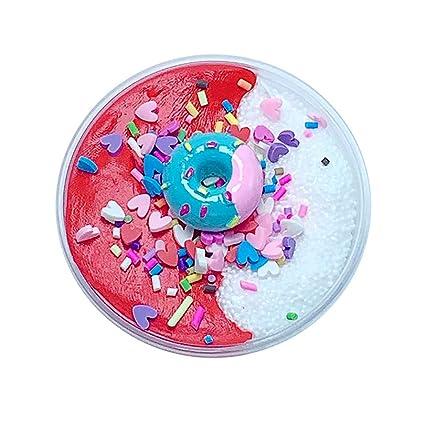 Amazon BODOAO Slime Fluffy Charms Grain Ice Cream Birthday Cake Kids Relief Stress Toys B Games