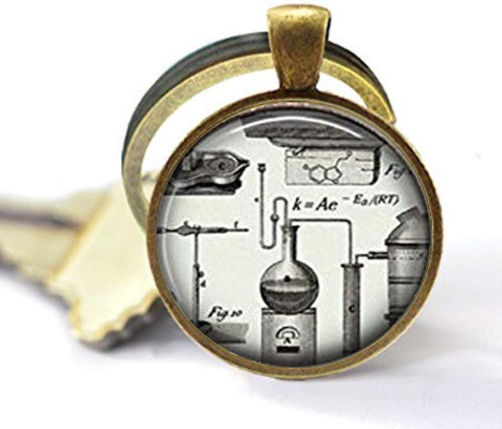 Llavero Steampunk de química, llavero de química, Science Nerd, Science Geek, regalo para profesores de química, llavero de regalo para estudiantes