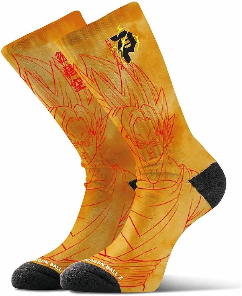Primitive Skate x Dragon Ball Z Mens Goku Graphic Socks Navy Blue
