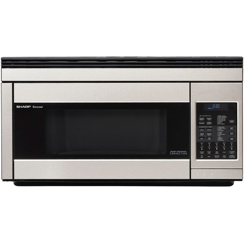 Sharp R1874T 850W Over-the-Range Convection Microwave, 1.1 Cubic Feet, Stainless Steel by Sharp