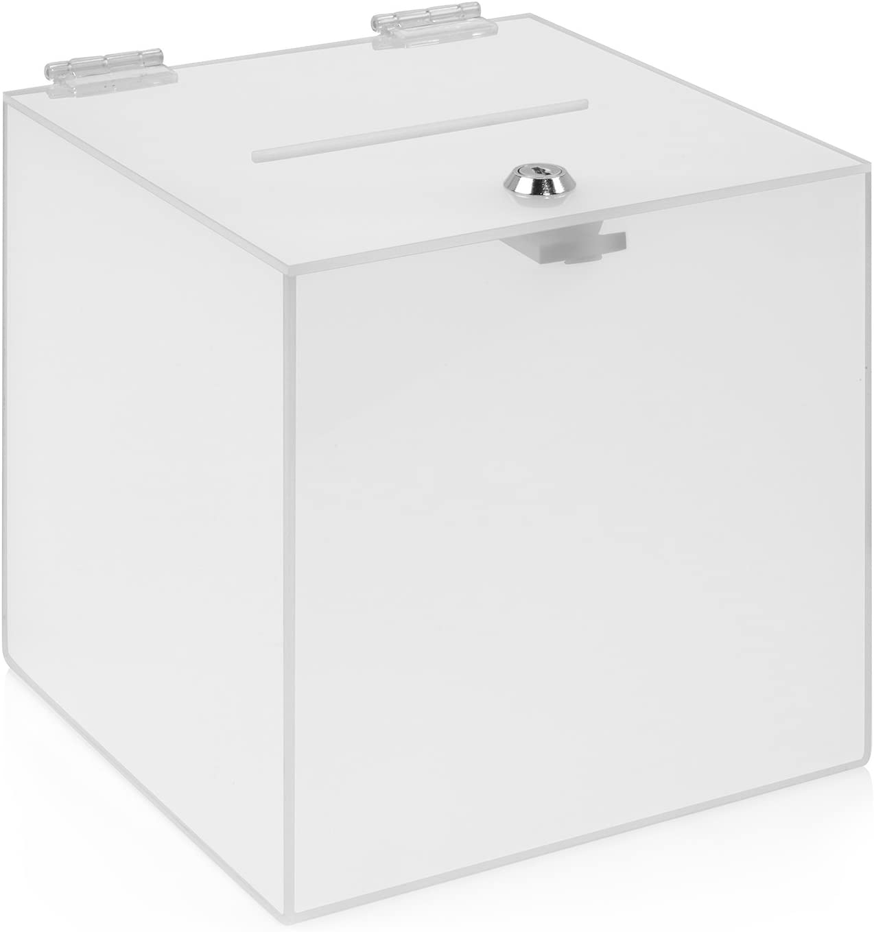 Kit Box Votaciones/200 x 200 x 200 mm con candado, de acrílico opaco/Dona Caja/ranura Caja/sorteo parte Caja/urna/acrílico/leche Cristal/Opal/lechoso/Visión resistente al/abschließbar – zeigis®: Amazon.es: Oficina y papelería