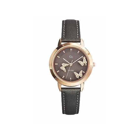 Go 698740 - Reloj de Pulsera Mujer, Cuero, Color Gris