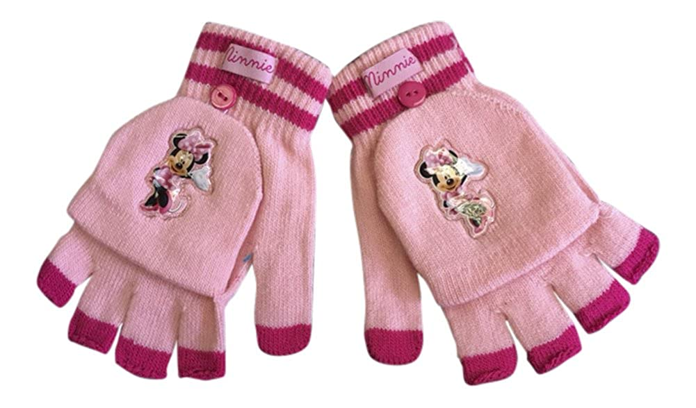 Disney - Girls Minnie Mouse Winter Thermal Mitten Fingerles Gloves in Cerise and Pink DISMM_0930
