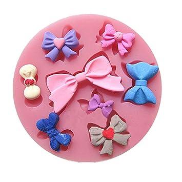 Artes Efivs ea89 8 lazos de Mini molde de silicona Fondant Azúcar lazo Craft moldes DIY decoración de pasteles: Amazon.es: Hogar