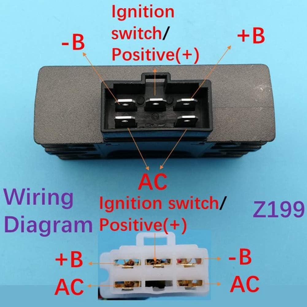 Tuzliufi Replace Voltage Regulator Rectifier Honda Gx160 Gx200 Gx240 Gx270 Gx340 Gx390 Gx620 Gx670 Gxv270 Gxv340