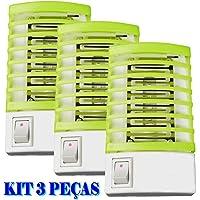 Mata mosquito e pernilongo LED UV kit 3 peças VERDE CBRN08629