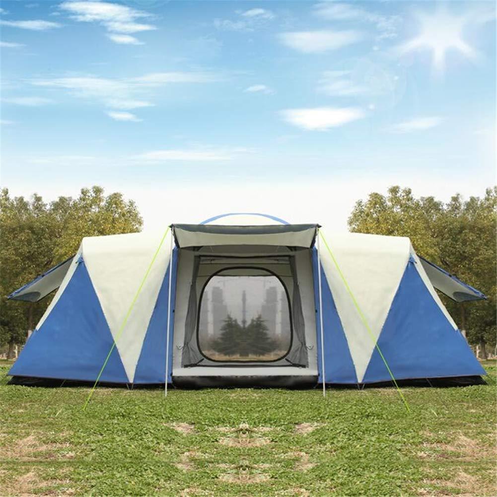 Zelt, Outdoor Double Layer Family Zelt Regenschutz Sunscreen 6-12 People Camping Festival Party Zelt