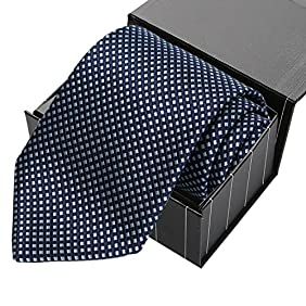 KissTies Mens Extra Long Tie Checkered Plaid Necktie + Gift Box (63'' XL)