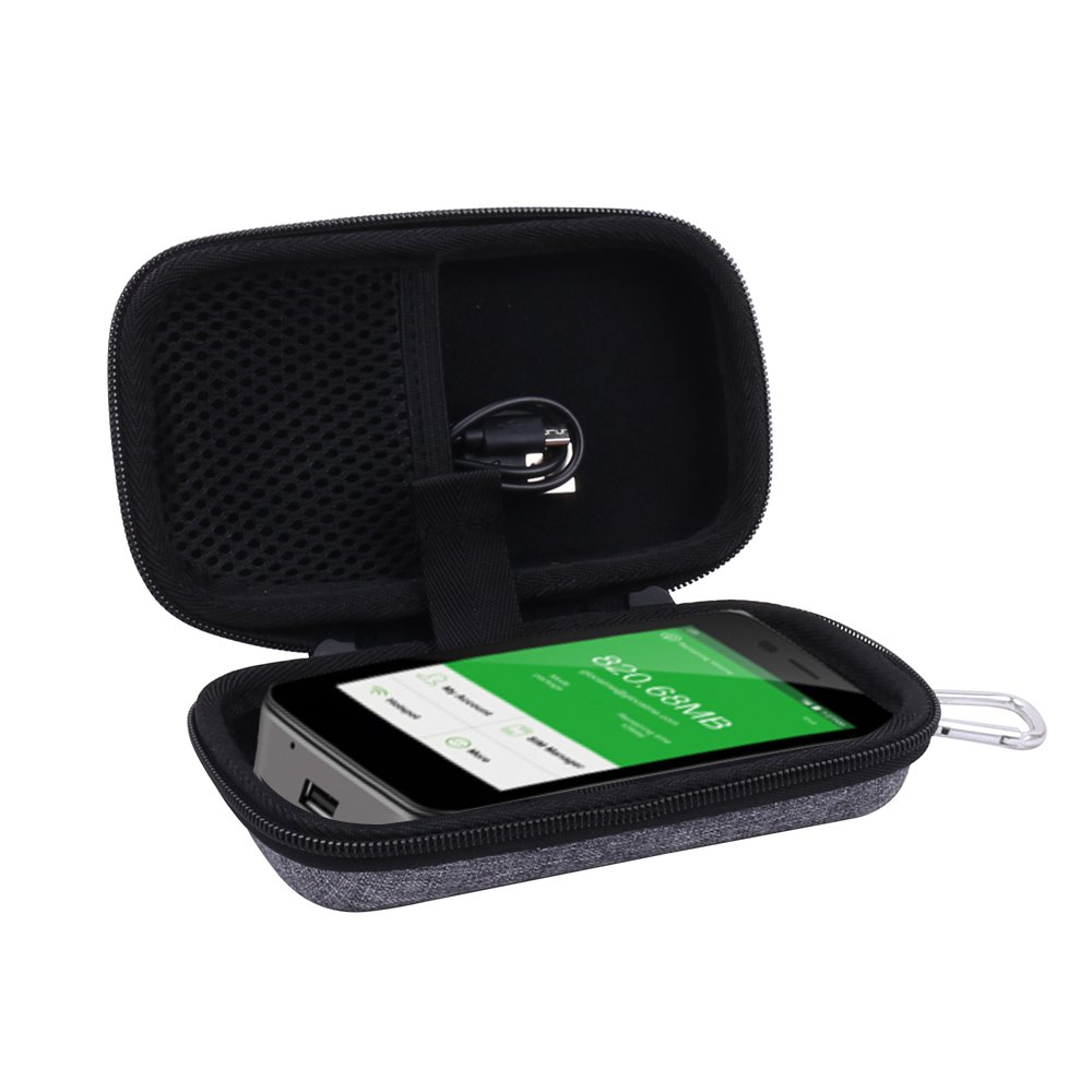 Viaggio Borsa Custodia Rigida per GlocalMe Router Mobile 4G LTE Global Alta Velocit/à WIFI Portatile per G3//G2 di Aenllosi