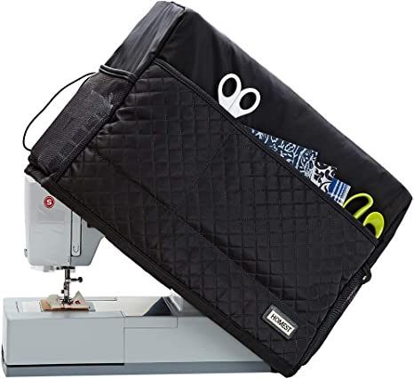 | Rodis Addicted DEPO Sewing Machine Cover with 2 Lateral Pockets Protective Quilted Dust Cover Pro Universal for Most Standard Singer /& Brother Machines Purple-Visible