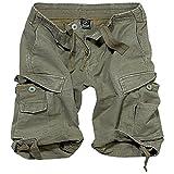 Brandit Shorts Vintage Classic 2002, Size:S, Color Oliv