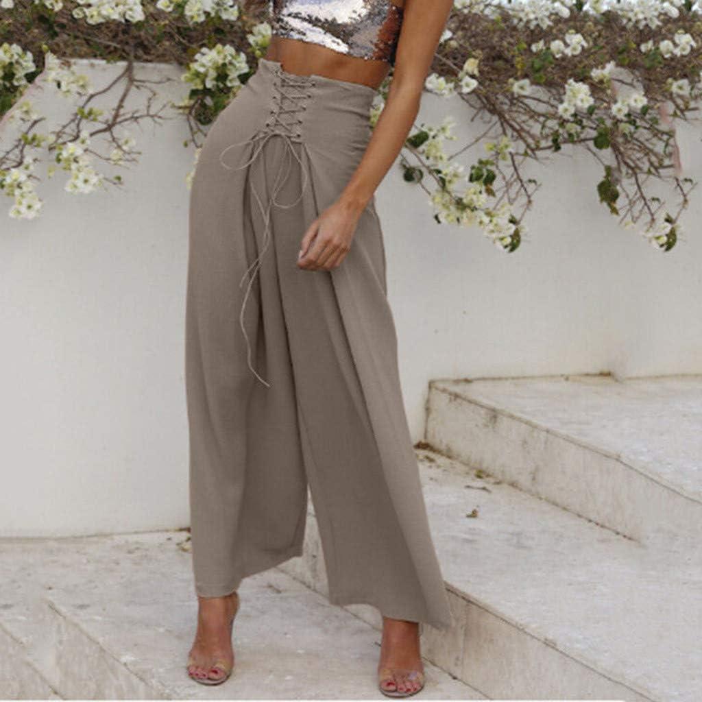 Pantalones Largos Para Mujer Anchos Cintura Alta Verano Paolian 2019 Pantalones Palazzo Vestir Elegantes Fiesta Yoga Tallas Grandes Mujer Pantalones