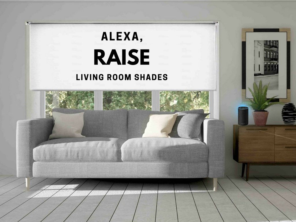 Link Shades. Wifi Controlled Smart Blackout Shade. Works with Amazon Echo, IFTTT, and Iphone Android Web App. 12v DC Plug In. (72''W x 72''L, Blackout White)