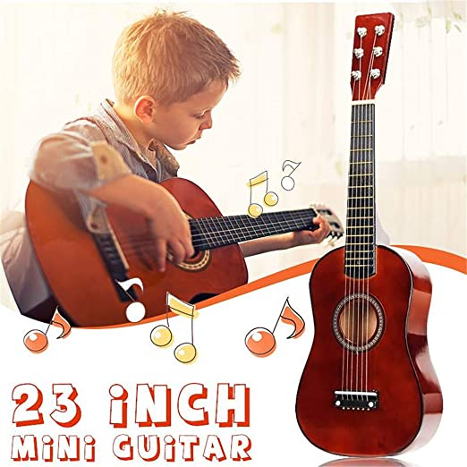 YUSDP Guitarra acústica para Principiantes de 23 Pulgadas para ...