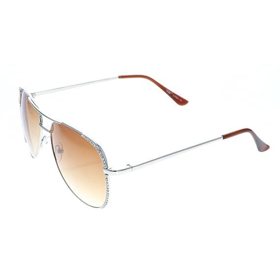 Aviador gafas de sol de diamantes de imitación diseñadora ...