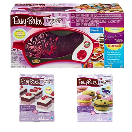 Easy Bake Ultimate Oven Bundle Includes Easy Bake Ultimate Oven Magenta With Bonus Items And Ultimate Chocolate And Pink Sugar Cookie Refill Pack