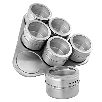 Buy House of Quirk Stainless Steel Spice Jars Triangle with Sift and
